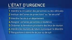 Etat d'urgence